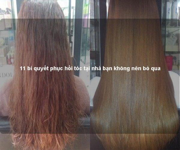 11 bí quyết phục hồi tóc tại nhà bạn không nên bỏ qua