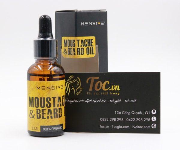 Thuốc mọc râu moustache and beard oil của Mensive